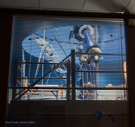 Photo: Apollo Observatory Viewed from Meeting Room. Photo by James Guilford.