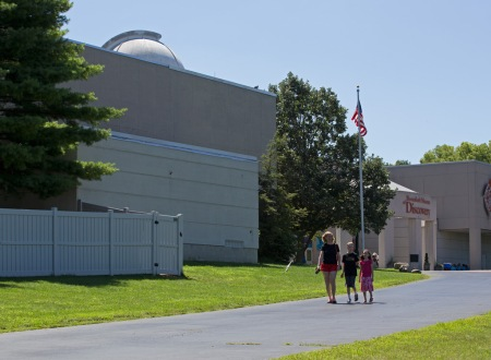 Photo: Exterior of Museum Topped by Observatory Dome. Photo by James Guilford.