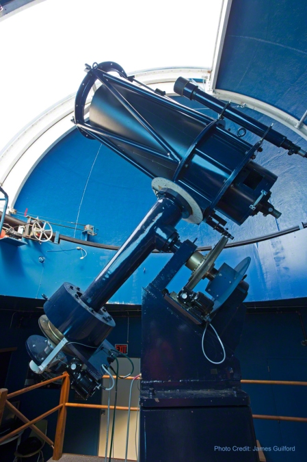 Photo: Apollo Observatory's 50cm Telescope. Photo by James Guilford.
