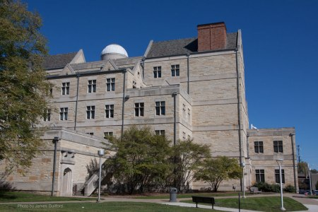 Brooks Observatory atop McMaster Hall, University of Toledo - Photo by James Guilford