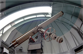 Photo: Telescope of Ralph Mueller Observatory