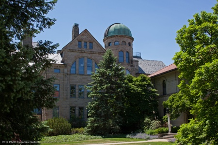 Peters Hall, Oberlin College Observatory. Photo by James Guilford