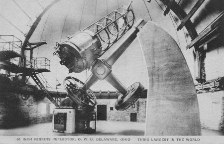 Photo: Antique Postcard of Perkins  61-inch Telescope