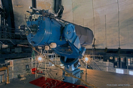 Photo: Perkins 1941 Fecker telescope. Photo by James Guilford.