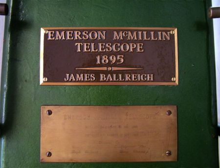 Photo: Dedication Plaques on Telescope Pier