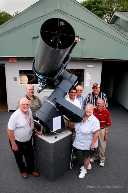 Photo: Wilderness Center The Telescope and Volunteers. Photo by James Guilford.