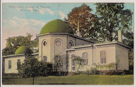 Image: Post Card showing Original Observatory at College of Wooster