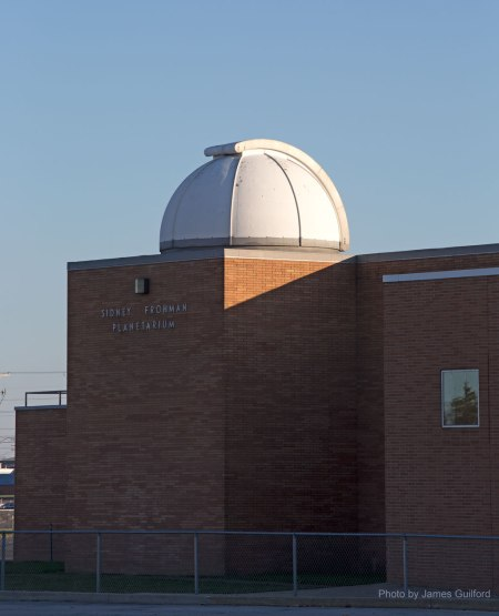 Photo: Observatory Dome at the Sidney Frohman Planetarium. Photo by James Guilford.