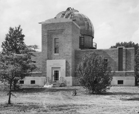 Burrell Observatory: Construction Finishing Up. Press Photo, Spring 1940