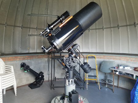 Schoonover Observatory's Telescope - Lima Astronomical Society Photo