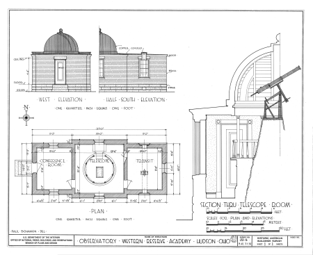 Image: Building Plan for Loomis Observatory - Public Domain Document