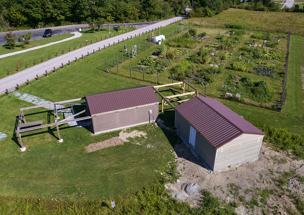 During the summer of 2021, a second observatory building was added to the Fairlawn Rotary Observatory. Photo by James Guilford.